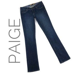 Paige Blue Heights Boot Cut Stretch Jeans